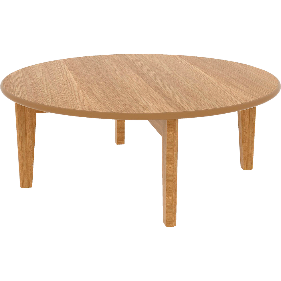 Table basse ronde plaquée chêne-SIWA