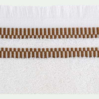 Linge de toilette en coton peigné- blanc ventoux-GARANCE