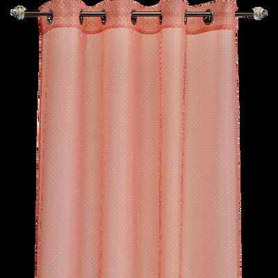 Voilage rose motifs pois blancs 140x240cm pour enfant-POIS