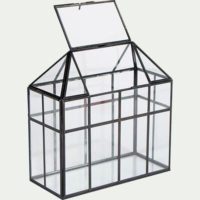Terrarium en verre L28xl13xH28cm - transparent-DORIAN