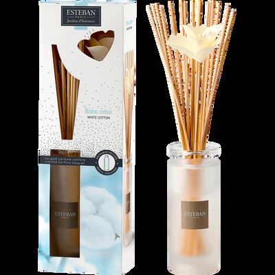 Diffuseur de parfum à bâtonnets blanc coton 75ml-ESTEBAN