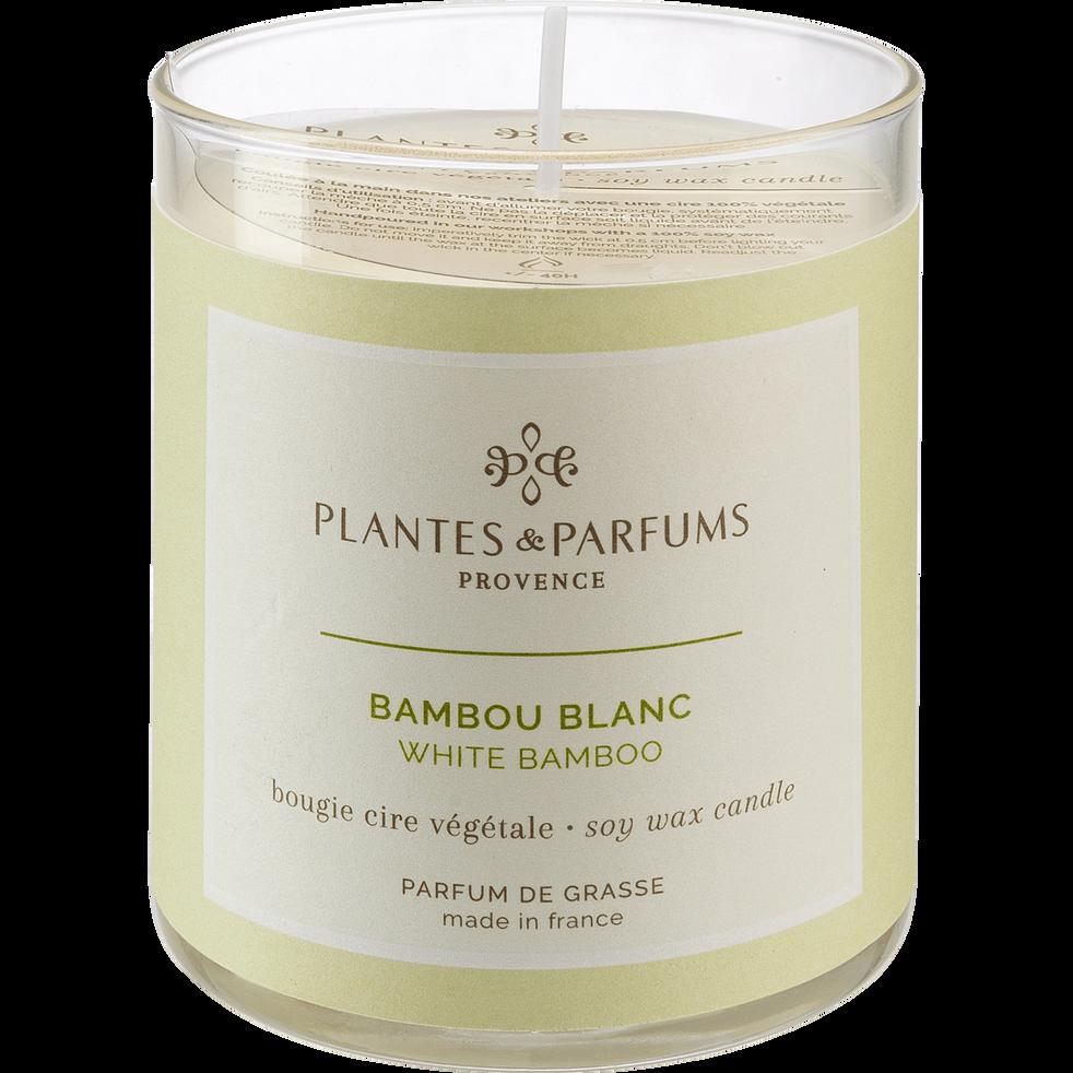 Bougie parfumée Bambou Blanc 180g-BAMBOU BLANC