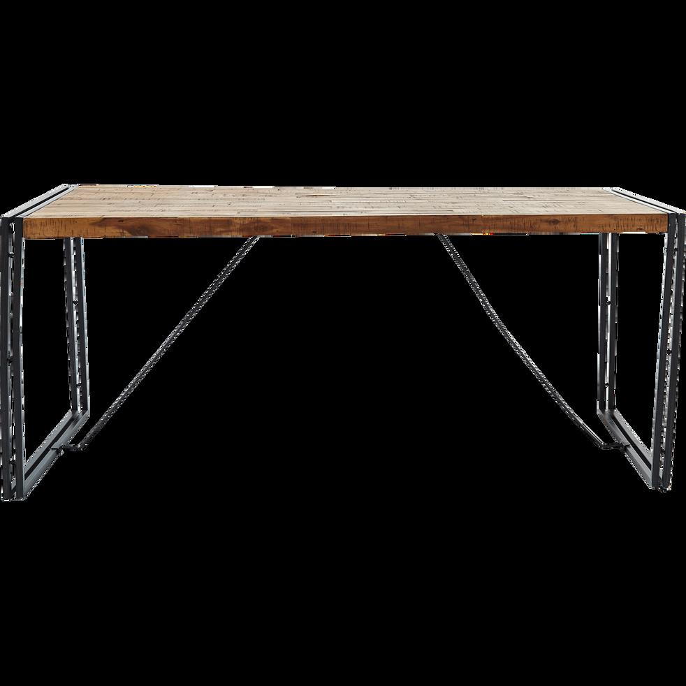 Table de repas en bois et métal vieilli - 8 places - OSCAR ...