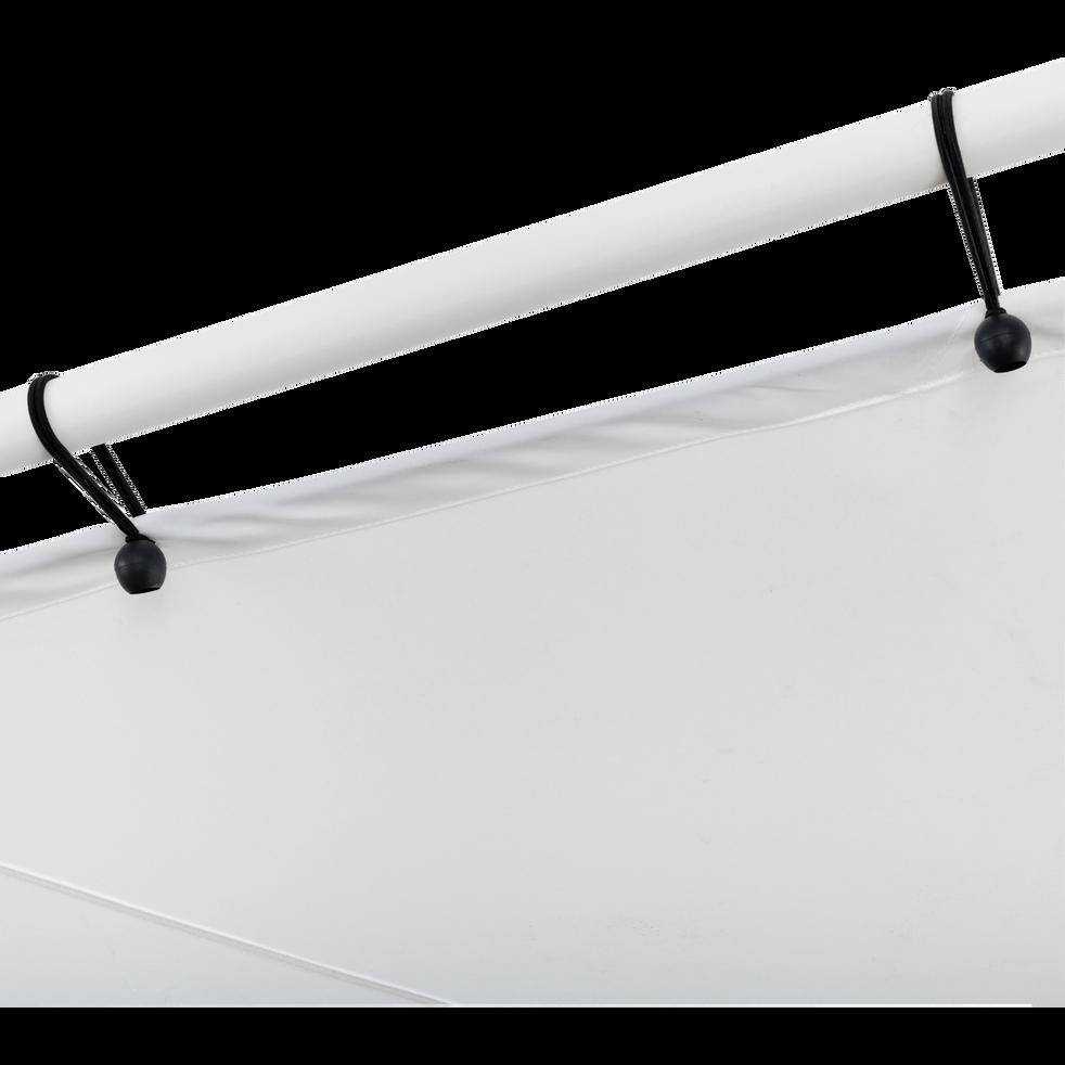 Pergola blanche avec toile imperméable 3,5m-BELNA