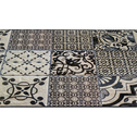 Tapis de couloir en vinyle gris 60x200cm-SONIA