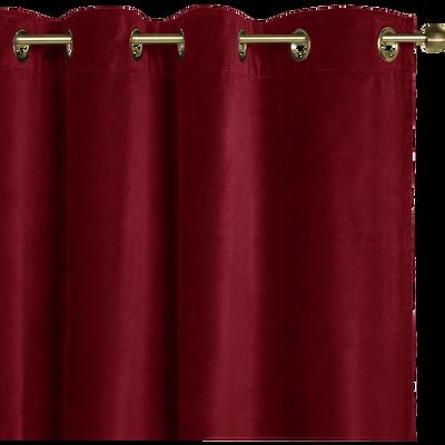 Rideau à oeillets en velours rouge sumac 140x250cm-EDEN