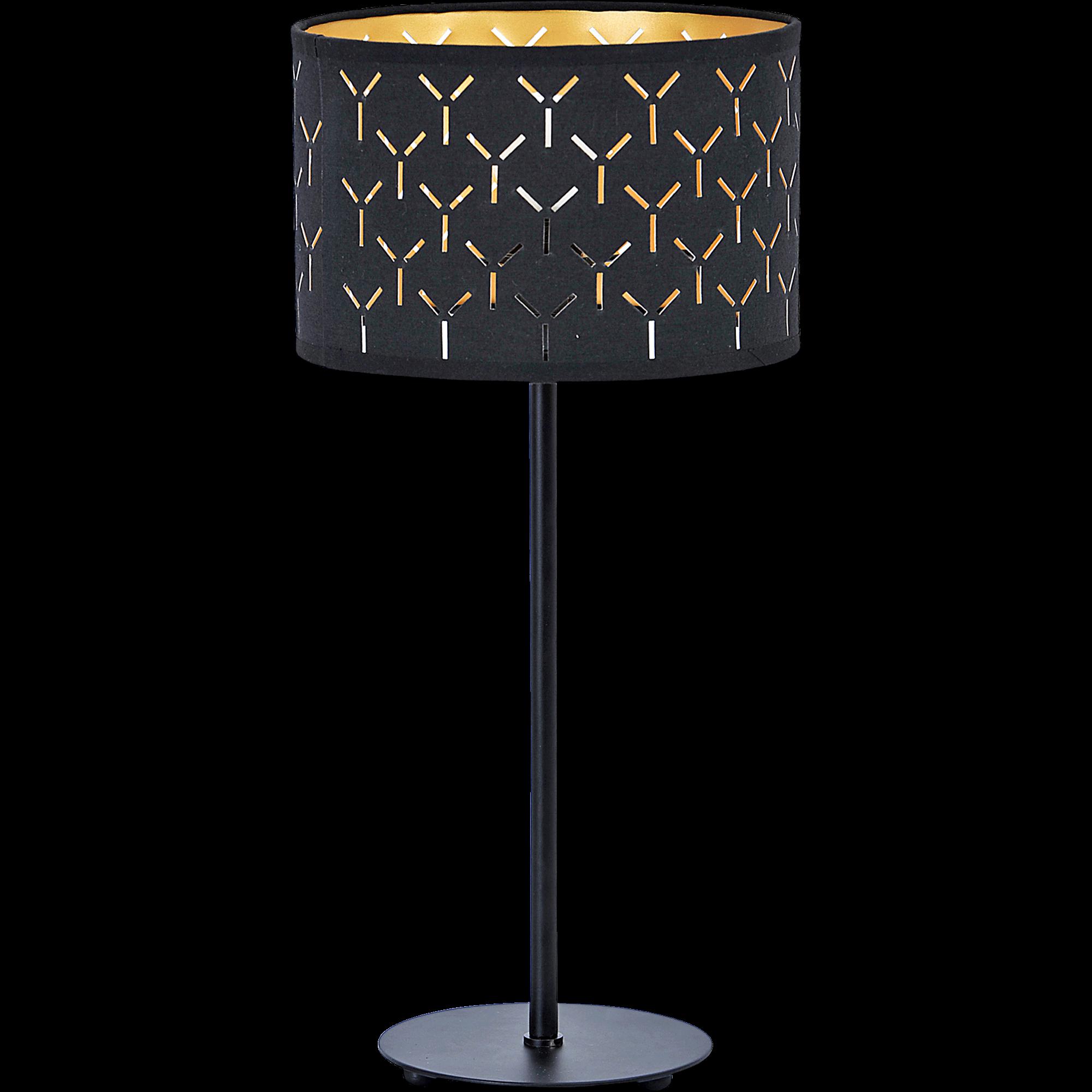 Lampe à Poser En Métal Et Coton Noir Ajouré H43cm AMBRA