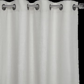 Rideau en lin blanc ventoux 140x360cm-VALLON