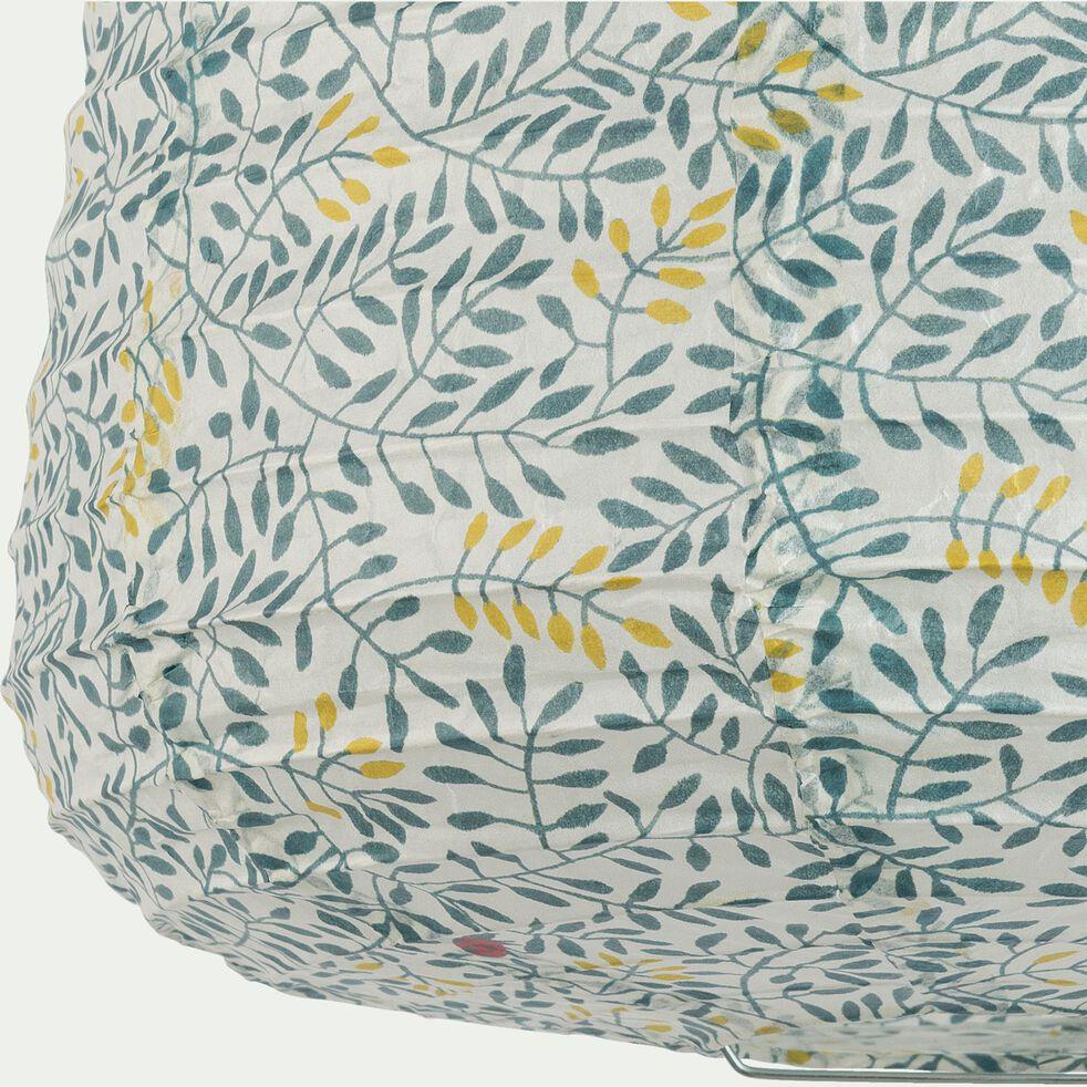 Suspension en papier à motif - vert D27xH32cm-Alou