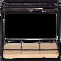 Support à ustensiles en métal et bois-LAUTIN