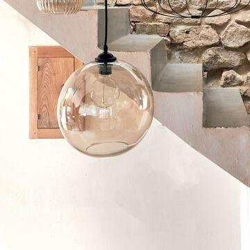 Suspension en verre - ambré D30cm-MARCELINO