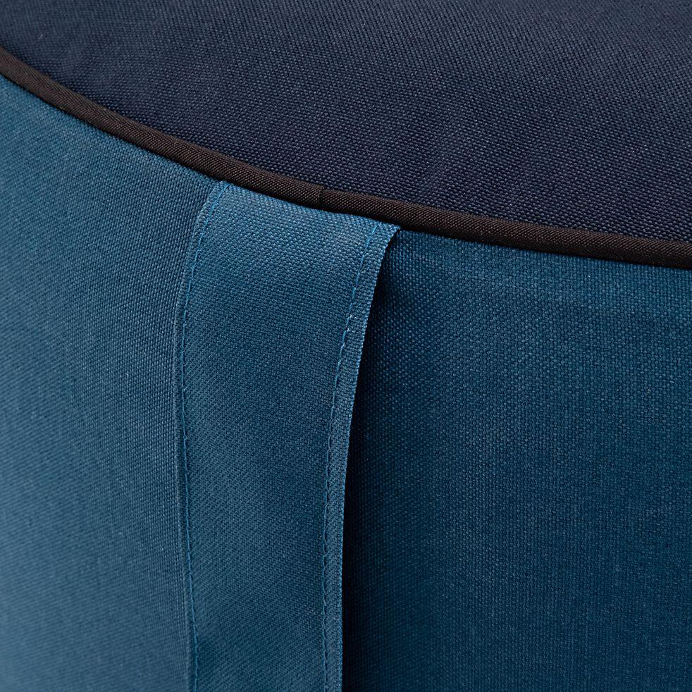 Pouf de jardin en tissu - bleu figuerolles D53cm-CAPRICE