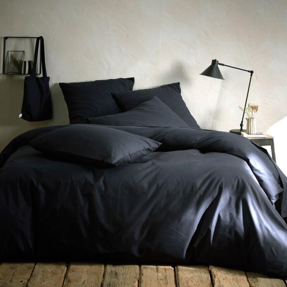 Drap plat en coton - gris calabrun 270x300cm-CALANQUES