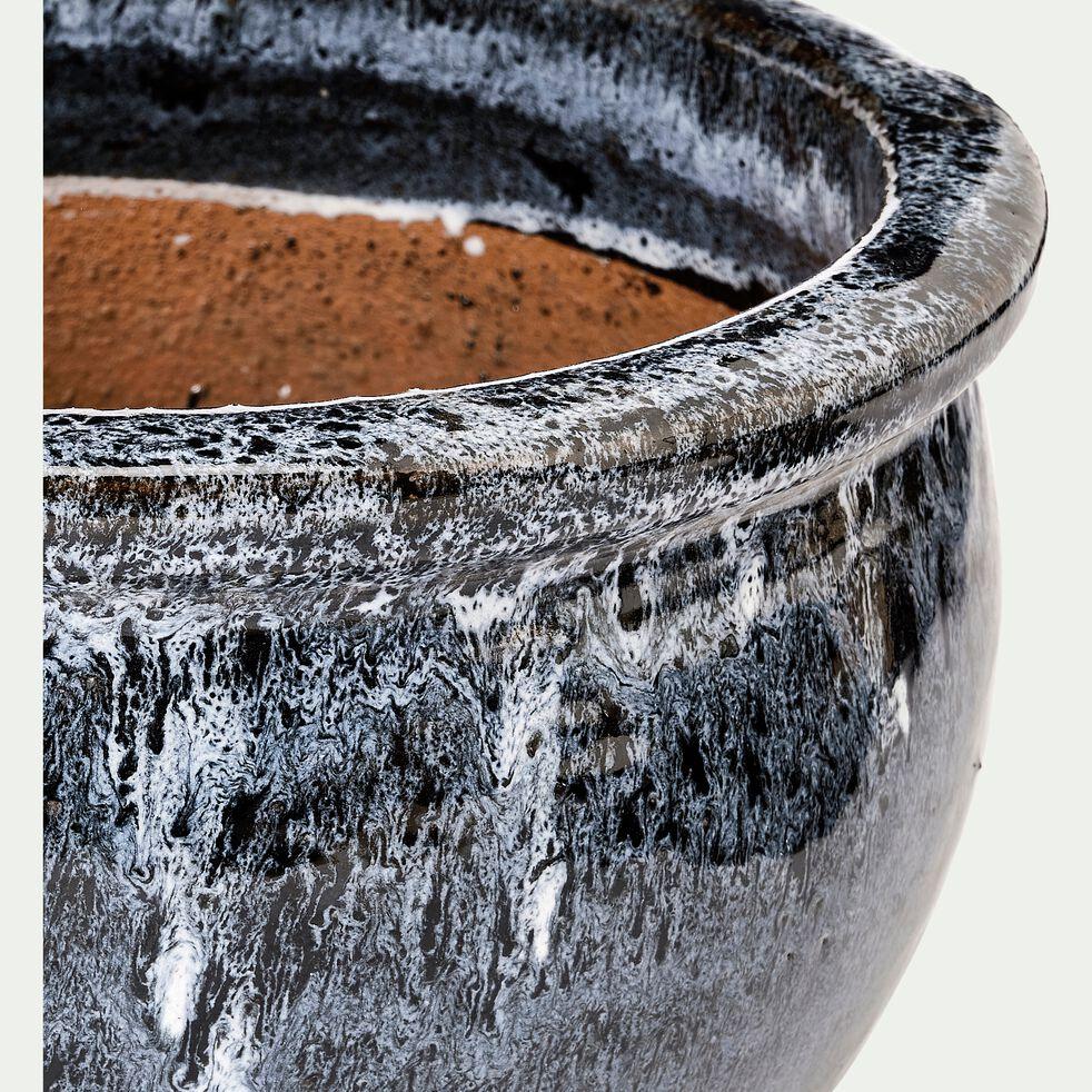 Pot en grès émaillé D46XH26cm - bleu-BEKAA