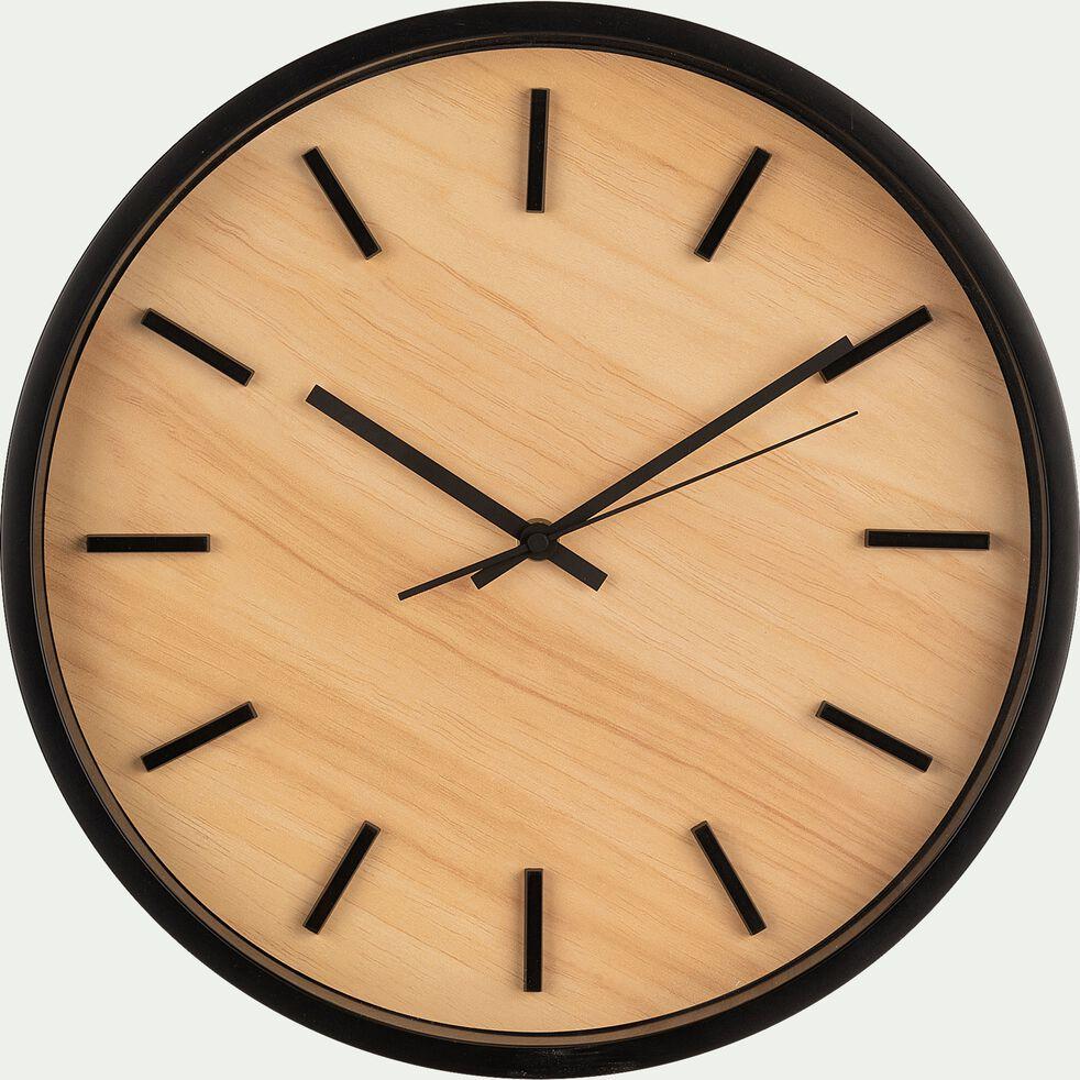 Horloge murale - D35x4,8cm noir-LITTORAL