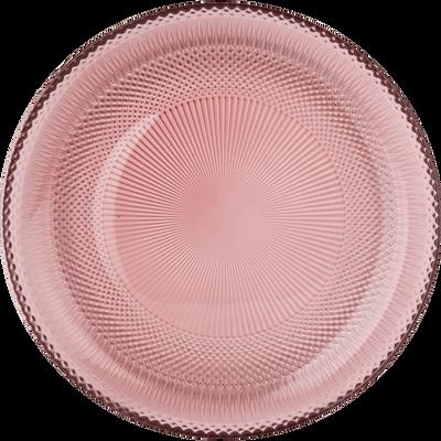 Assiette à dessert en verre rouge D21cm-KANZ