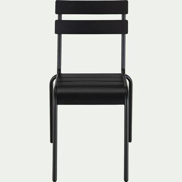Chaise de jardin empilable en acier - noir-ALVA