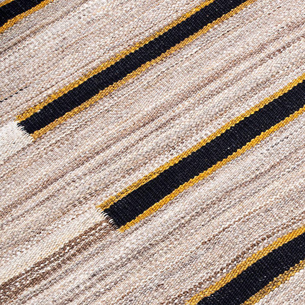 Tapis motifs à rayures en laine - multicolore 150x200cm-KIMO