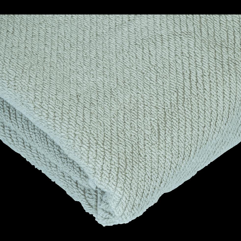 Drap de bain vert olivier 90x150cm-COLINE