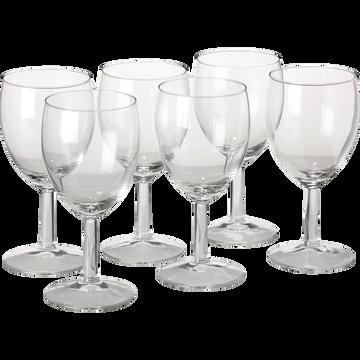 Lot de 6 verres à pied en verre 25cl-Villa