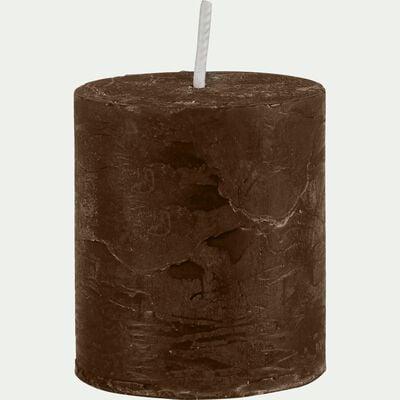 Bougie votive brun ombre D4xH5cm-BEJAIA