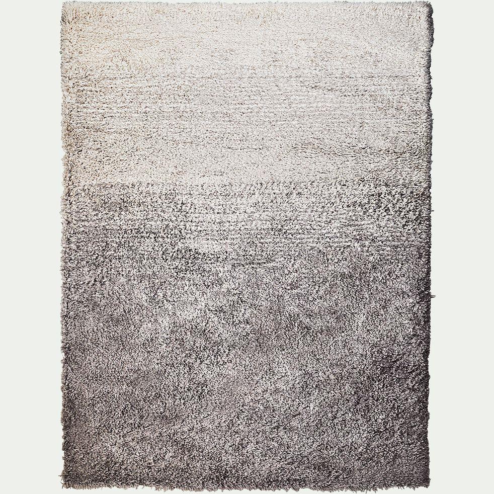 Tapis dégradé imitation fourrure - gris 160x230cm-mala