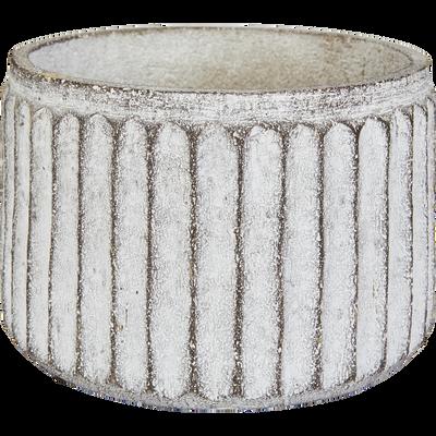 Cache-pot en fibre de ciment H14,5xD22 cm-Sienne
