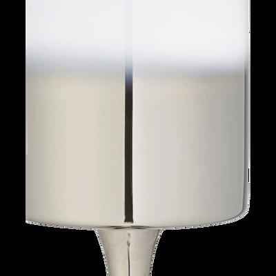 Photophore en verre argent H30cm-CANOPUS