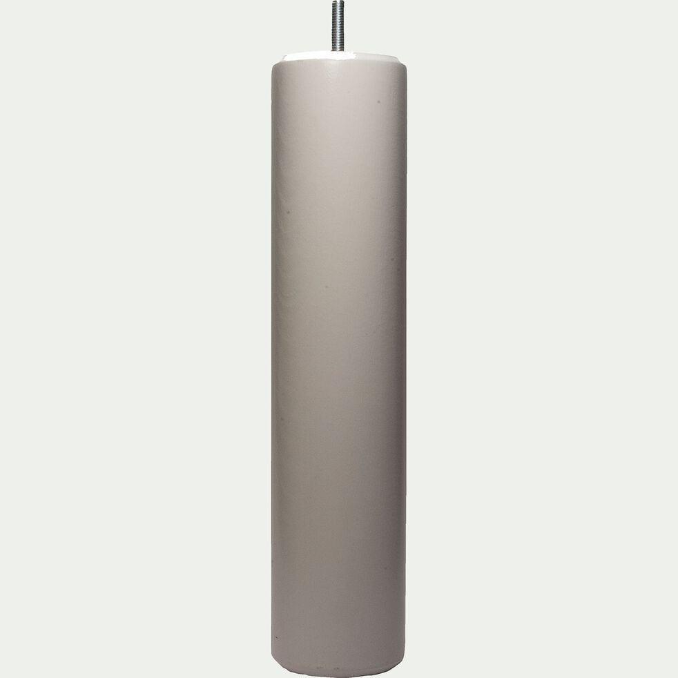 Pieds de sommier en hêtre massif blancs H30cm - jeu de 4-Cylindre