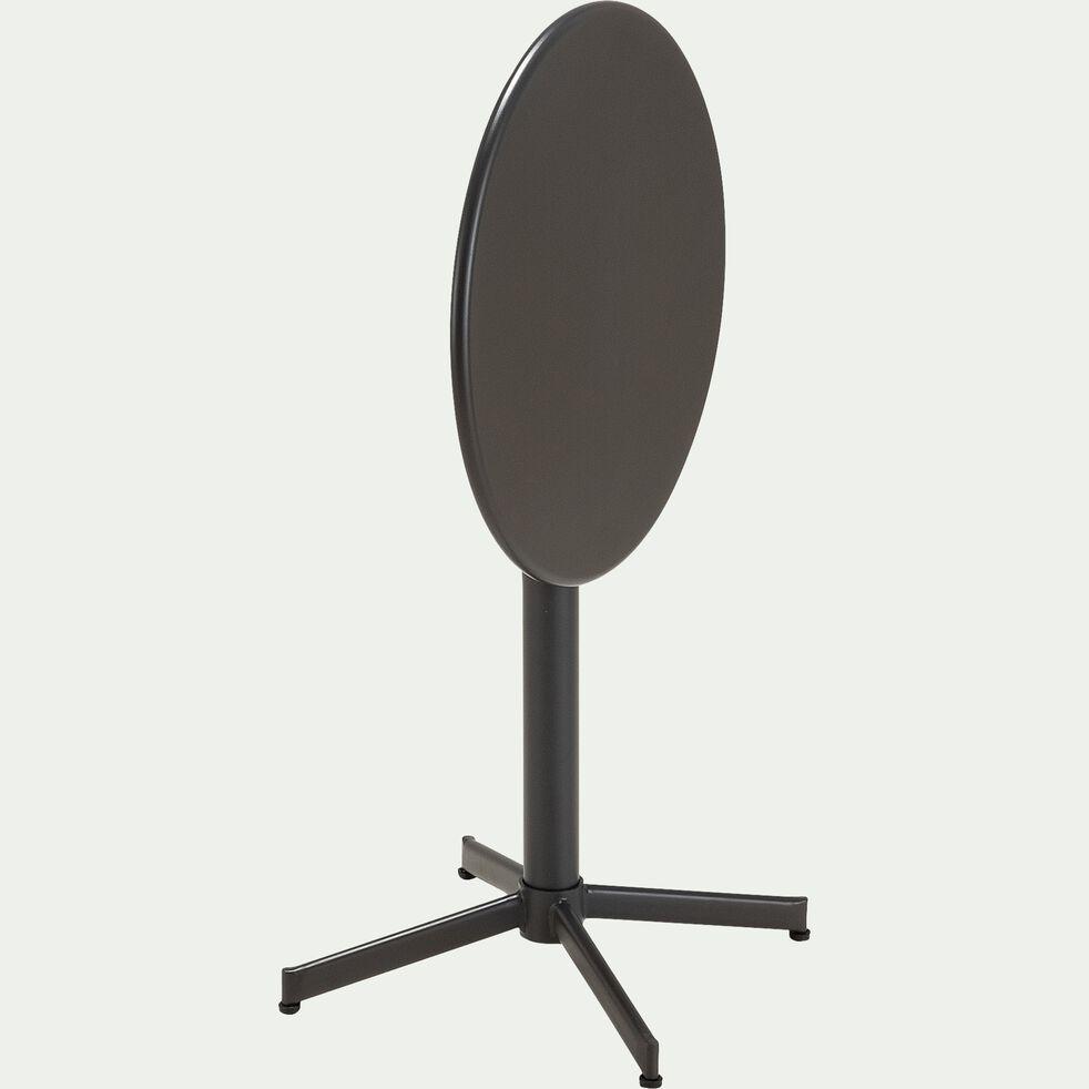 Table de jardin pliante en acier D70cm - noir (2 à 4 places)-ESPRESSO