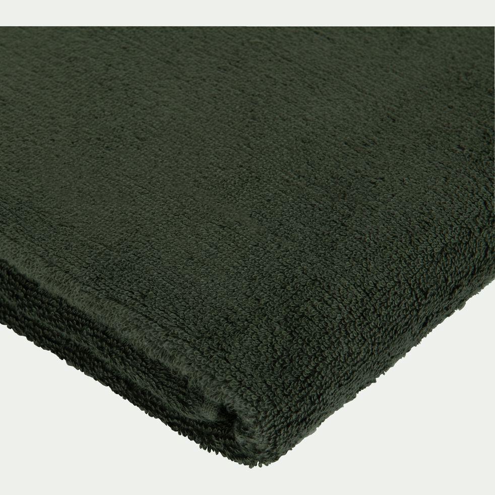 Serviette invité en coton peigné - vert cèdre 30x50cm-AZUR