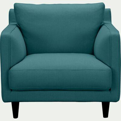 Fauteuil en tissu bleu niolon-LENITA