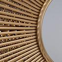Miroir soleil tubes dorés D99cm-AROS