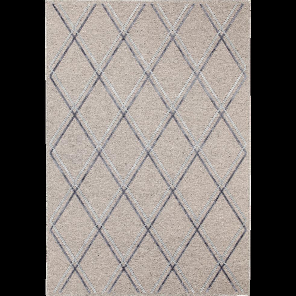 Tapis en laine et viscose beige 160x230cm-MAYFAIR