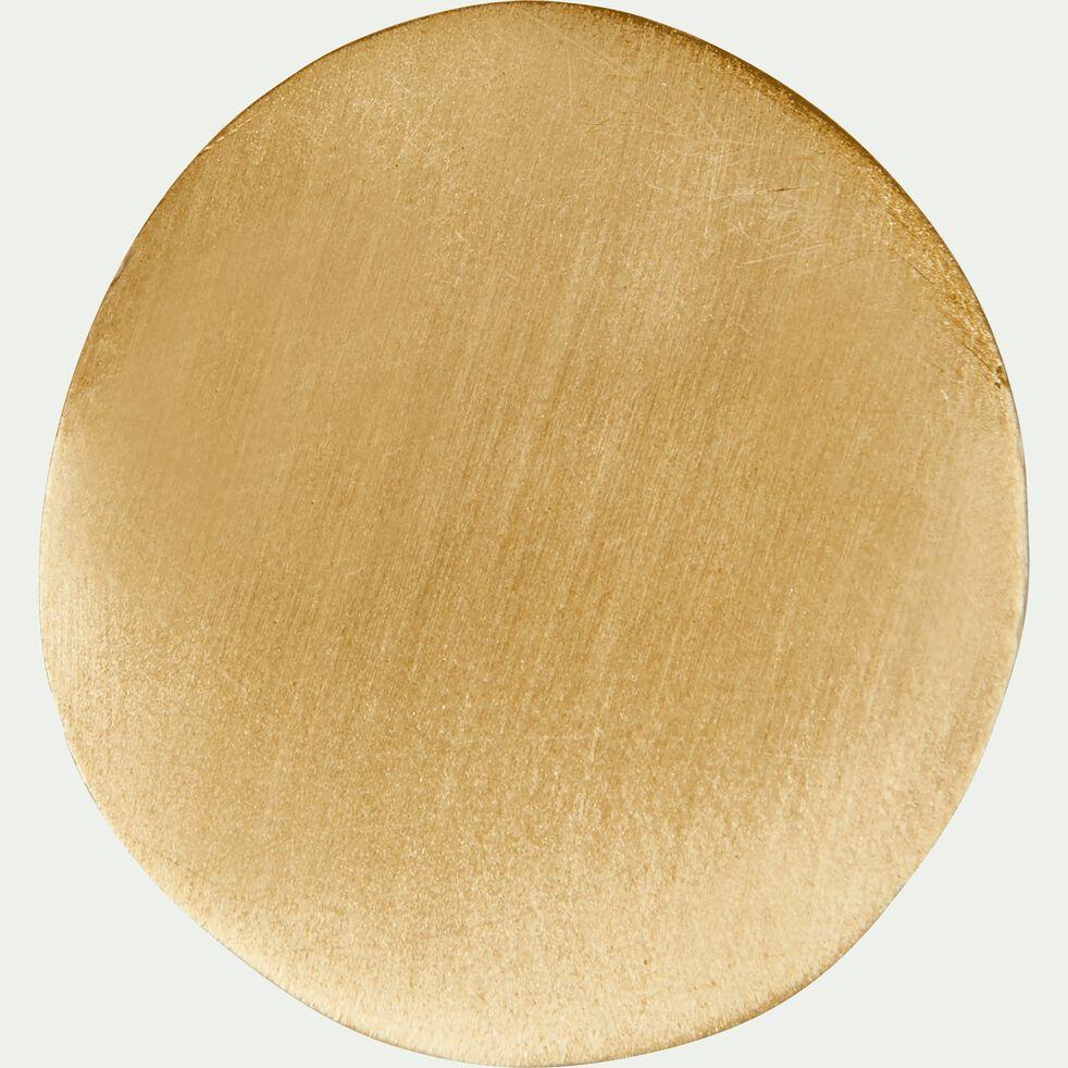 Patère ronde en laiton - doré D3cm-HEM