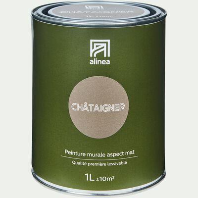 Peinture acrylique mate multi-supports 1L brun chataignier-PEINTURE