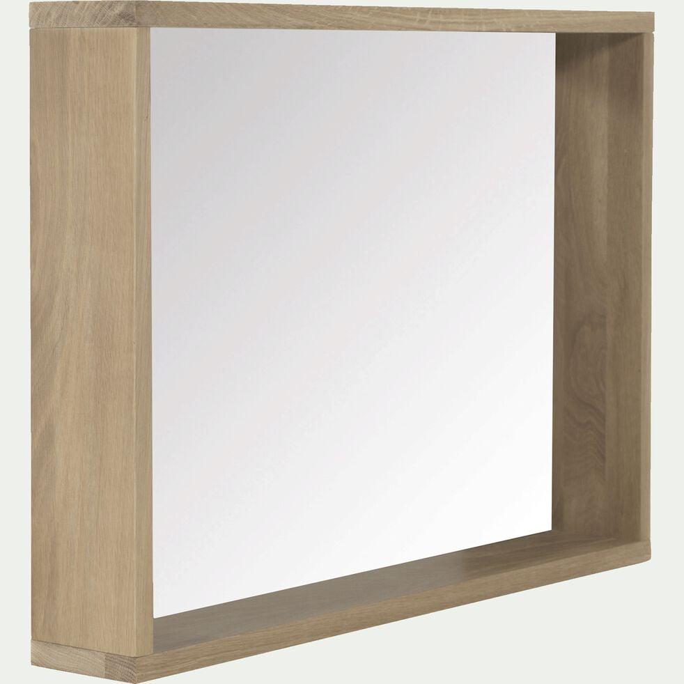 Miroir rectangulaire de salle de bain en chêne 80cm-Native