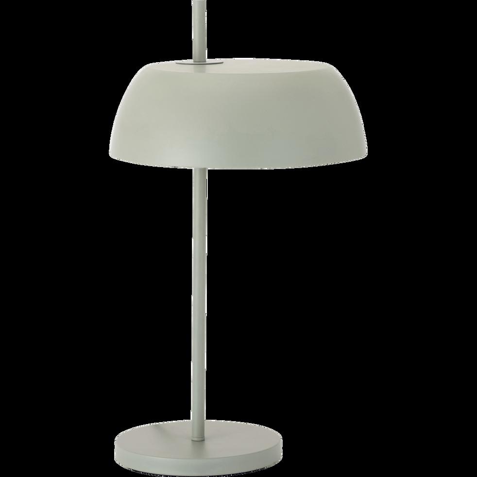 Lampe en métal vert olivier H54xD30cm-LOLLY