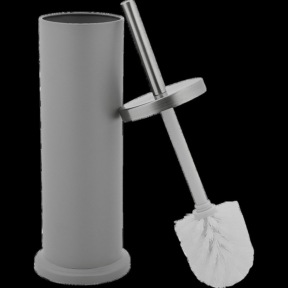 Balai et porte-balai WC gris-CEDRIC