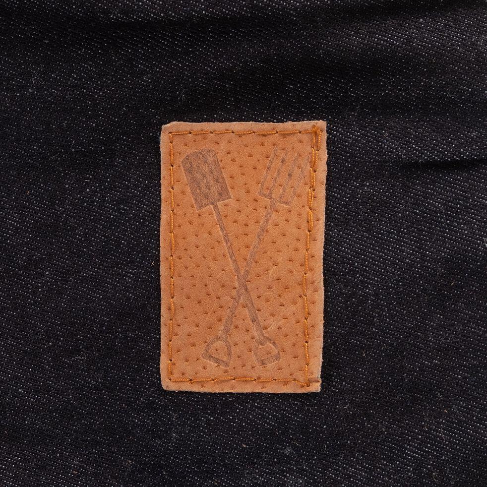 gants de jardinage en jean robuste - orange-LILAS
