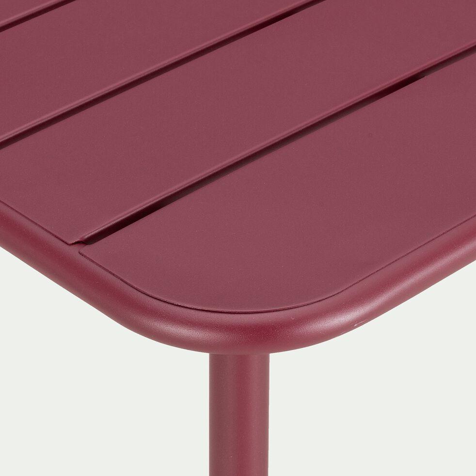Table de jardin carrée en acier - rouge sumac (2 à 4 places)-Souris