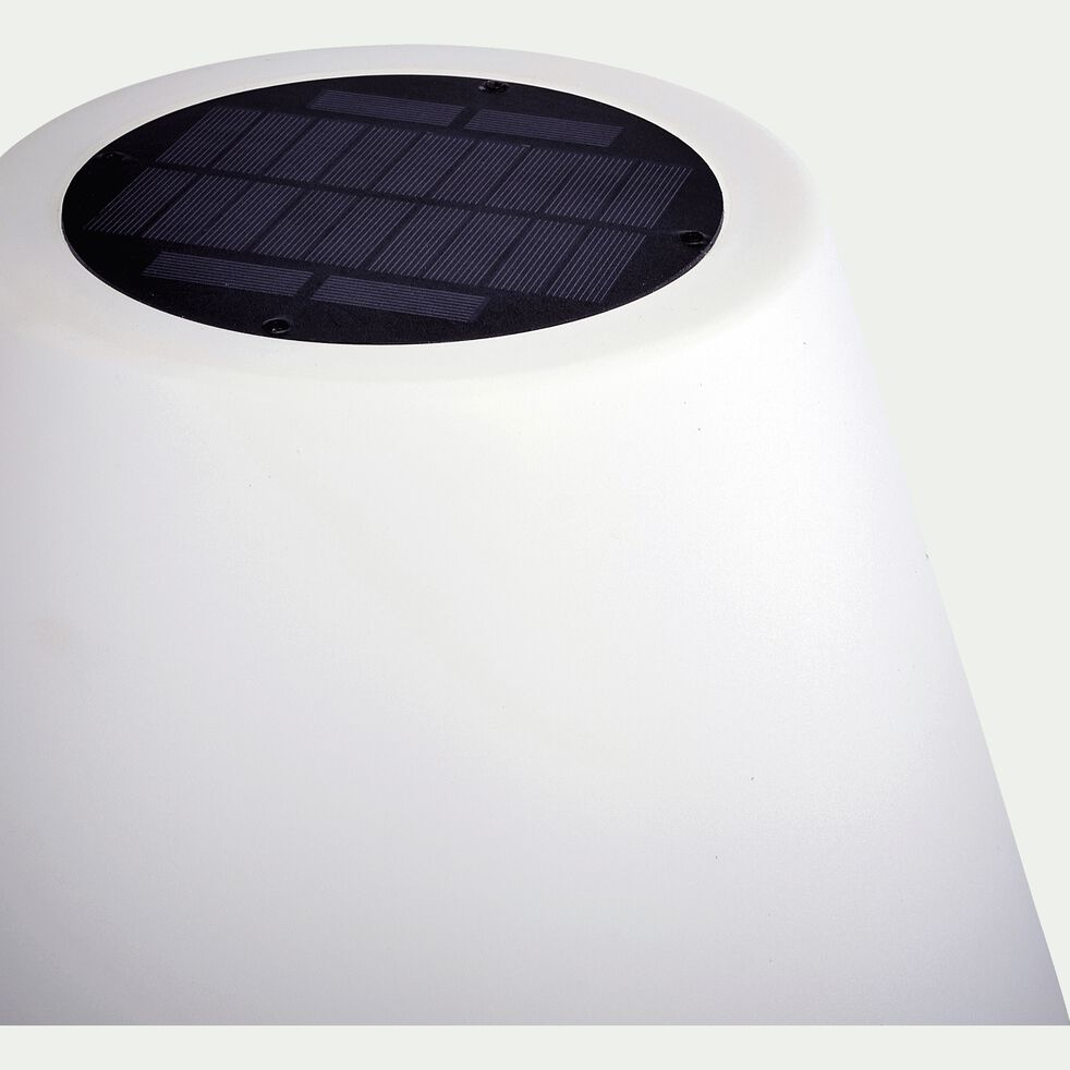Lampadaire extérieur solaire - H150cm blanc-STALLE