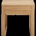 Table de chevet en chêne massif 1 tiroir-EMOTION