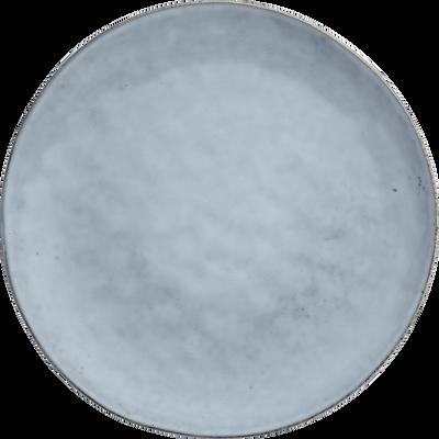 908ebdb0bc0f6 Assiette plate en grès bleu D27.5cm-ADAM