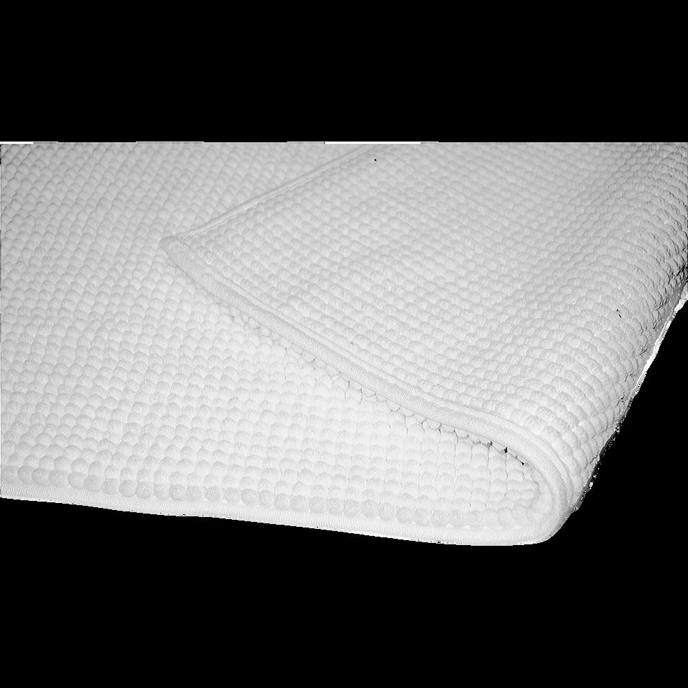 Tapis de bain 50x120cm antidérapant blanc-PICO