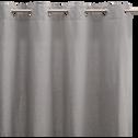 Rideau à oeillets en coton gris restanque 140x250cm-CALANQUES