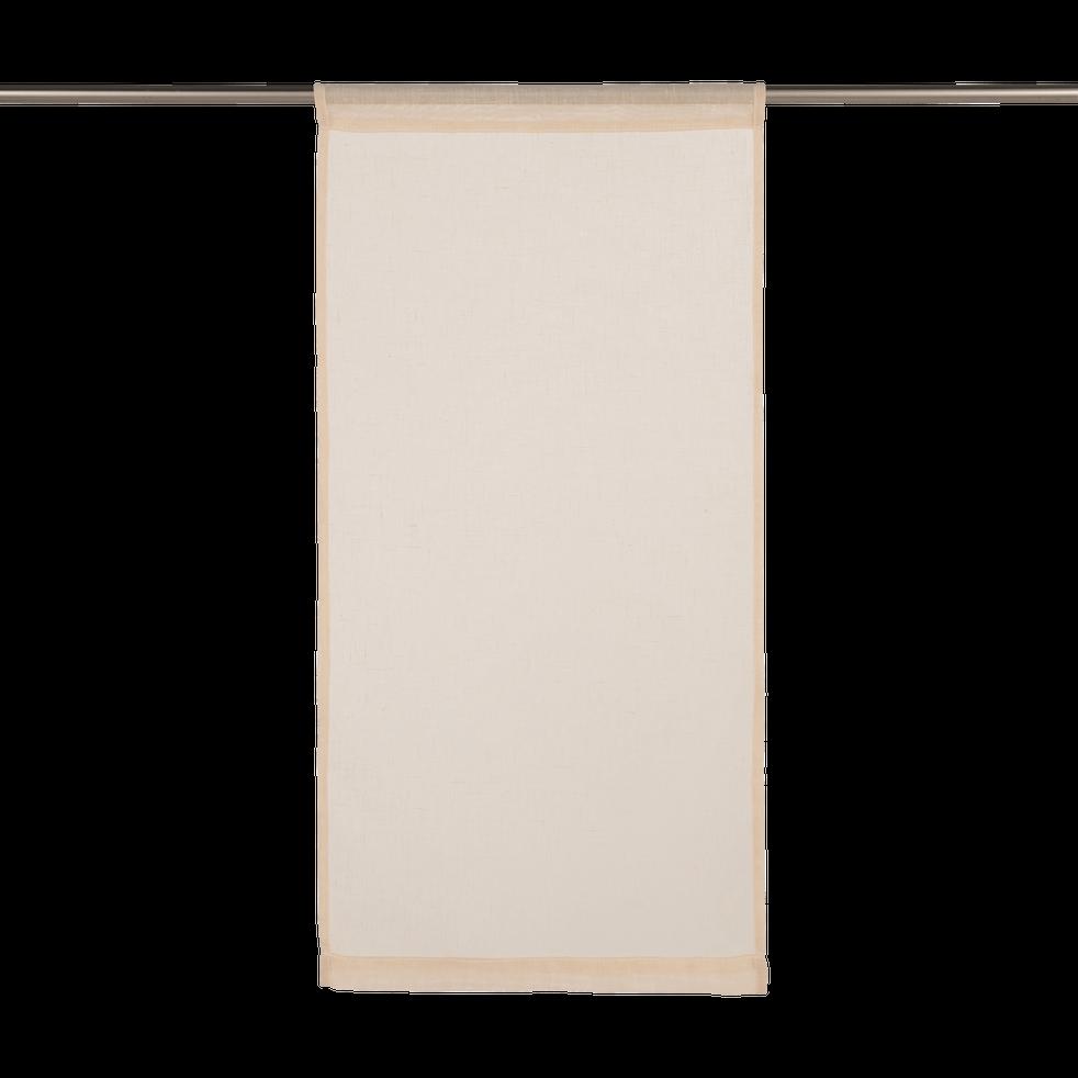 Vitrage beige roucas 45x90cm-DUNE