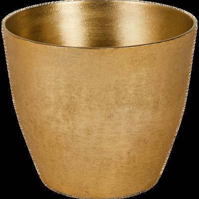 Cache-pot en aluminium doré H12xD14,5cm-MACE