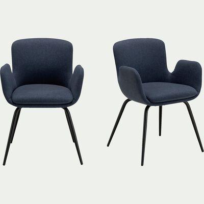 Chaise en tissu avec accoudoirs - bleu figuerolles-SERIN