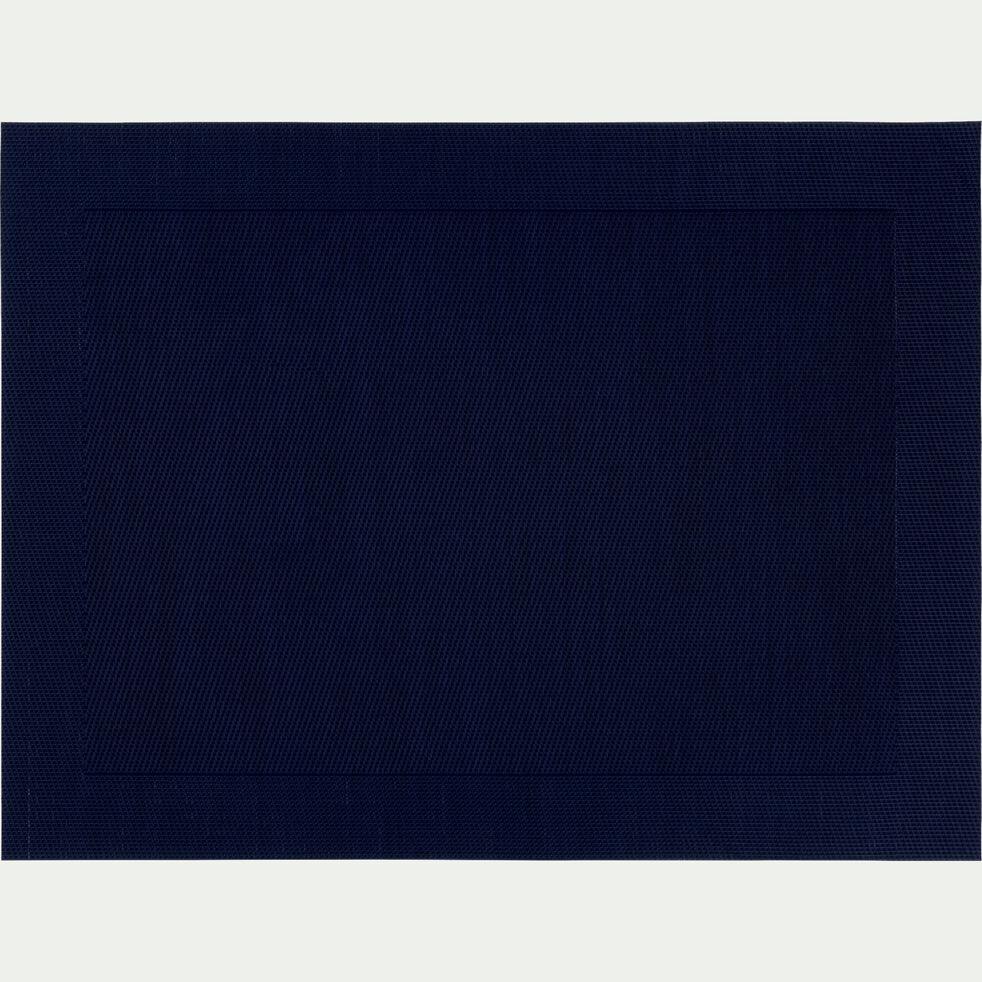 Set de table en polyvinyle bleu calabrun 36x48cm-VIGNE